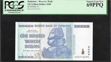 Zimbabwe : 100 Trillion Dollars (2008) P-91 PCGS 69 PPQ UNC
