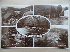 Vintage Old Postcard Posted 1950s Dulverton Somerset River Bridge Barle Valley b