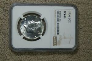 4-COIN LOT NGC GRADED KENNEDY HALF 1966 MS64, 68-D MS63, 69-D MS64,70-D MS64.