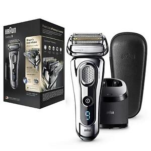 Braun Series 9 Men's Electric Shaver Wet and Dry with Cleaning Stn Chrome 9297cc