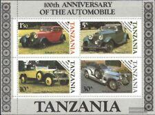 Tanzania Bloque 53 (edición completa) nuevo 1986 100 años automóviles