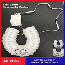 White Lace  Wedding Charm Horseshoe Horse Shoe Bridal Charm Round Ring Shape