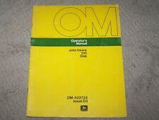 John Deere Used 210 Disk Operators Manual A8