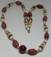 24 STRANDS ASSORTED COLORFUL GLASS BEAD NECKLACES