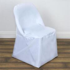 Wholesale White Polyester Folding Round Chair Covers Party Wedding Event