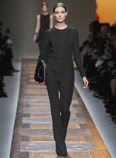 VALENTINO Black Silk Braided Dress Jumpsuit 40 4