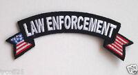 """LAW ENFORCEMENT (SMALL 4"""") EMT FIRE RESCUE POLICE Rocker Patch P3685 E"""