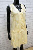Vestito Donna GAS COLLECTION Size S Abito Tubino Dress Tajer Cotone Beige