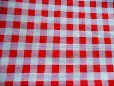 Cath Kidston / Ikea Rosali Collection FABRIC Red Pink White Gingham Cotton Piece