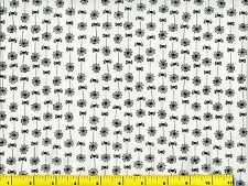 Small Black Spiders & Spider Webs Halloween Quilting Fabric by Yard #250