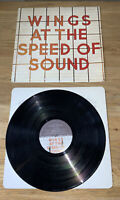 WINGS AT THE SPEED OF SOUND Vinyl LP. UK 1st Press PAS 10010. EX/VG+