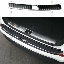 Steel Inner Rear Bumper Protector Boot Sill Plate Cover For Hyundai Tucson 16-17