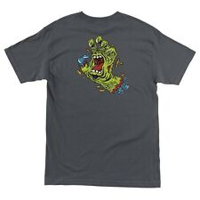 Santa Cruz Rob Roskopp Rob Hand Skateboard T Shirt Charcoal Medium