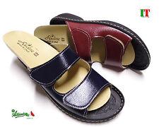 Pantofole ciabatte donna aperte MADEinITALY PLANTARE ESTRAIBILE doppiostrappo