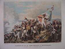 Typogravure de RAMPON et la 32ème demi-brigade à MONTELEGINO le 10 avril 1796