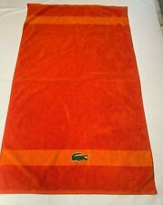 LACOSTE Orange Beach Towel 28 X 49 Swimming Embroidered Croc