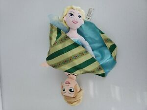 "FROZEN Elsa & Anna Reversible Topsy Turvy Flip Doll 15"" Plush Disney Parks"