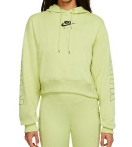 Nike Hoodie Womens Plus Size Authentic NSW Sportswear Air Fleece Hoodie Lime