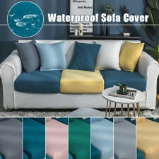 Luxury Waterproof Sofa Seat Cushion Cover Seersucker Slipcover Protector Cover