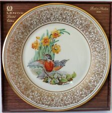 Lenox Boehm Annual 1977 Robin Bird Collector Plate New in box