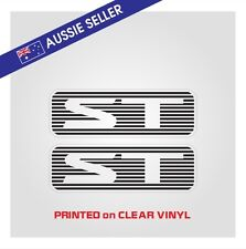 ST Stickers PAIR - Suit Nissan Patrol GU Series - PRINT ON CLEAR Not VInyl Cut