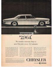 1963 Chrysler Newport 4-door Sedan Hourglass Automobile Car Vtg Print Ad