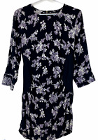 BNWT Caroline Morgan Womens Black Floral Long Sleeve Dress Size 12