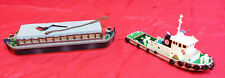 N Scale - TUG BOAT & BARGE (KITS BUILT by Papa) LOT # 44