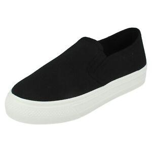 Mujer Spot On sin Cordones Informal Verano Plano Completo Zapato F8R0522