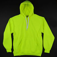 HIGH VISIBILITY SAFETY GREEN PULLOVER HOODIE HILL SPORTSWEAR HOODY BRIGHT NEON