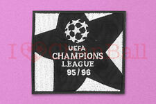 UEFA Champions League 1995-1996 Black Sleeve Embroidery Soccer Patch / Badge