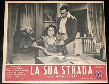fotobusta film LA SUA STRADA Otello Toso Carla Candiani 1943 #3