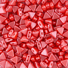 Kheops® Par Puca® Czech Glass Triangle Beads Pastel Coral 6mm 9g (K97/3)