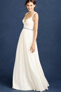 NWT J Crew Gigi Silk Chiffon Wedding Dress