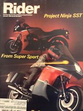 Rider Magazine Project Ninja SST & Super Sport January 1985 020518nonrh