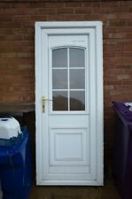 White PVC Front/Back Door Part Glass working with Key and full frame