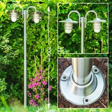 Außenstehleuchte Kandelaber Wege Lampe Garten Aussen Steh Leuchte Edelstahl Weg