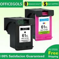 2 Combo Ink Cartridges 61XL for HP OfficeJet 2620 4630 4632 4634 4635 8040 8045