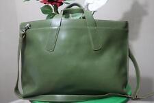 LODIS green Leather Laptop Bag Briefcase separator shoulder bag large (PU130