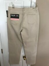 """Style & Co Jeans Stretch Beige Womens Size 16 Straight Leg 31"""" Inseam NWT"""