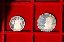 Portugal 1985  2 silver coins Proof 25 e 100 escudos (silbermunzen PP)
