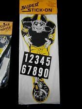 Pittsburgh Steelers Vtg 80s NFL Football player stickers +  Super Waver MIP Rare