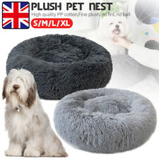 Warm Pet Dog Cat Calming Beds Comfy Round Fluffy Bed Nest Mattress Donut Pad Pig