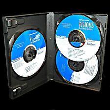 Visions Audio Program Basic Bilingual Language 3 CD English Spanish McCloskey