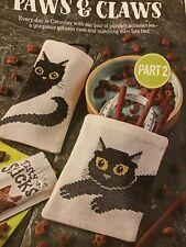 (L) Emma Congdon Black Cat Glasses Case Tote Bag Cross Stitch Chart