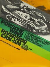 ORIGINAL 1973 PORSCHE POSTER 917-30 TURBO CAN-AM RIVERSIDE 101x76cm Strenger