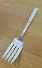 "ANTIQUE MARIANNE SILVERPLATE ""8"" SERVING OR COLD MEAT FORK"