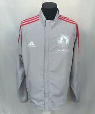 Adidas 2008 Boston Marathon Full Zip Running Light Jacket Gray Size Men's M Top