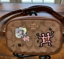 NWT COACH Keith Haring Waist Belt Bag/Fanny Pack Signature Canvas Patches F55644