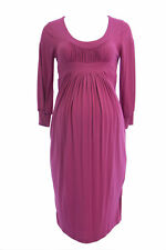 OLIAN Maternity Women's Berry 3/4 Blouson Sleeve Gathered Front Dress XS $130
